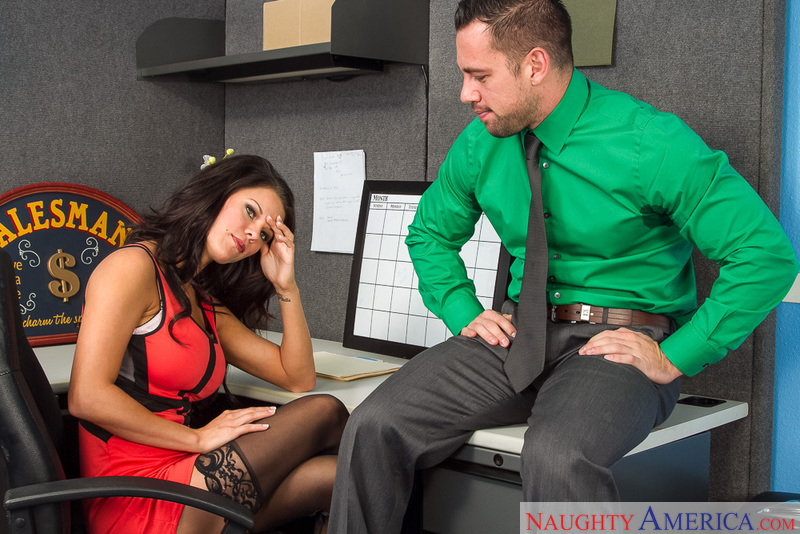 Employee Peta Jensen fucking in the desk with her tits - Sex Position 1