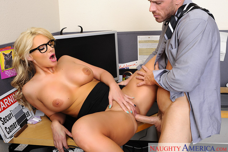 Shaved Phoenix Marie fucking in the office with her glasses - Sex Position 3
