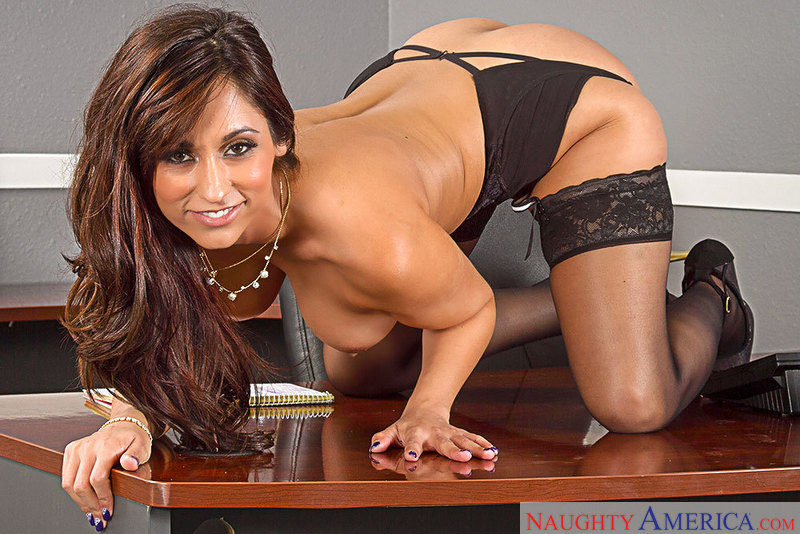 Reena Sky fucking in the office with her tits - Sex Position 2