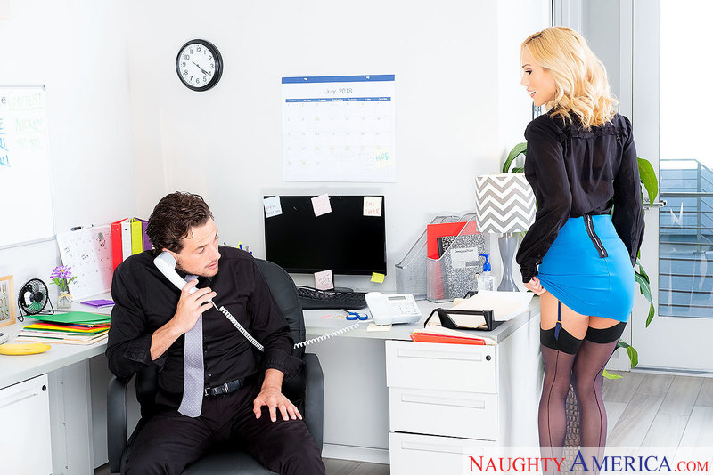 Get laid and getting lei'd: Sarah Jessie works it at work - Sex Position 1