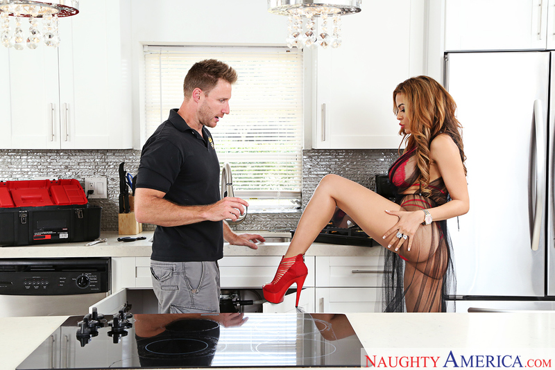 Rich girl Luna Star fucking in the kitchen with her tits - Sex Position 1