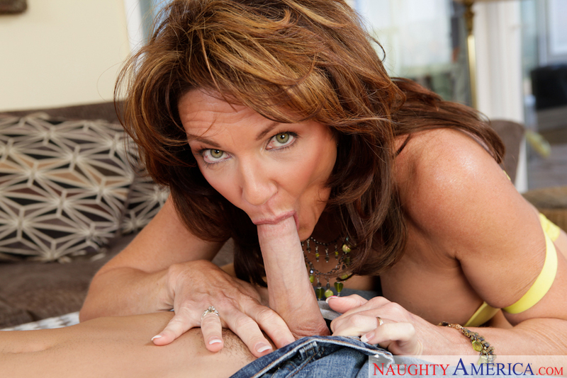 Cougar Deauxma fucking in the couch with her big tits - Sex Position 3